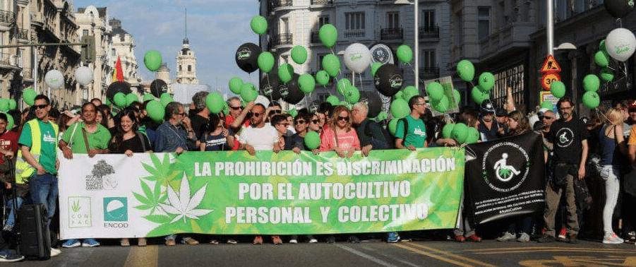 asociaciones cannábicas marcha marihuana Madrid
