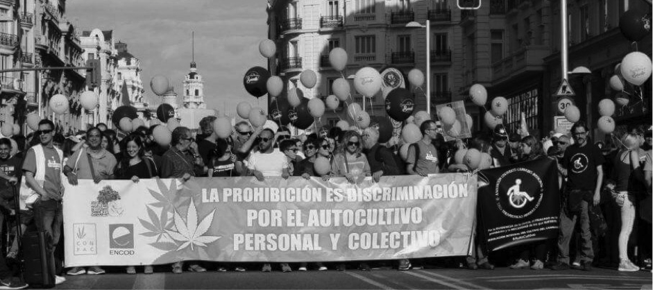 Marcha Cannabis asociaciones cannábicas