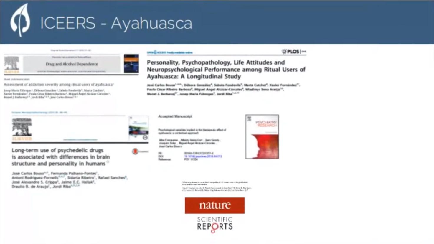 Bouso presentación informe ayahuasca Barcelona