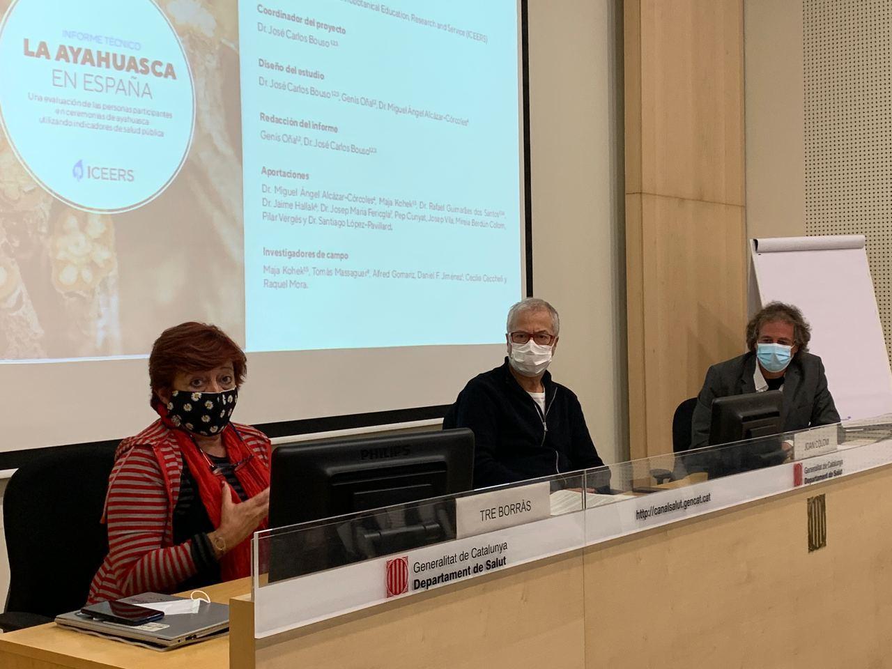 Presentación Barcelona informe ayahuasca
