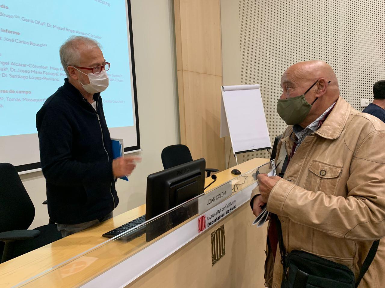 Joan Colom Josep Vila presentación Barcelona informe ayahuasca