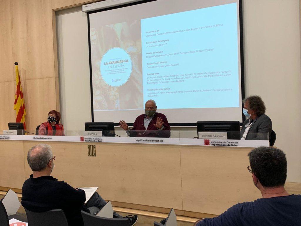 presentación ayahuasca iowaska personas informe Barcelona Tre Borrás Josep Vila José Carlos Bouso ICEERS